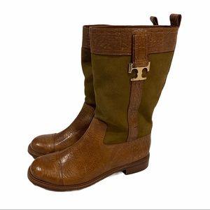 Tory Burch Corey mid calf boots